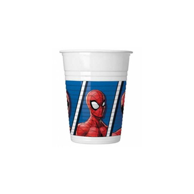 8 Gobelets Spiderman 20 cl