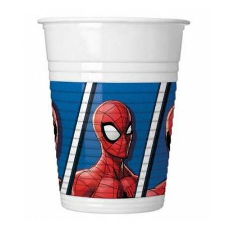8 Spiderman cups 20 cl