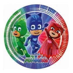 8 Platos de Héroes en Pijamas 23 cm