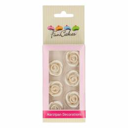 6 flowers Pink Silver Funcakes marzipan