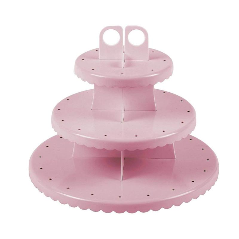 Expositor para Cake pops y Cupcakes de plástico ROSA