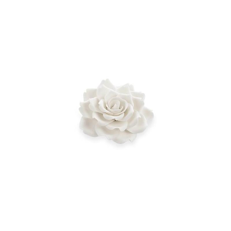 fleur rose blanche 12 cm cake design et patisserie. Black Bedroom Furniture Sets. Home Design Ideas