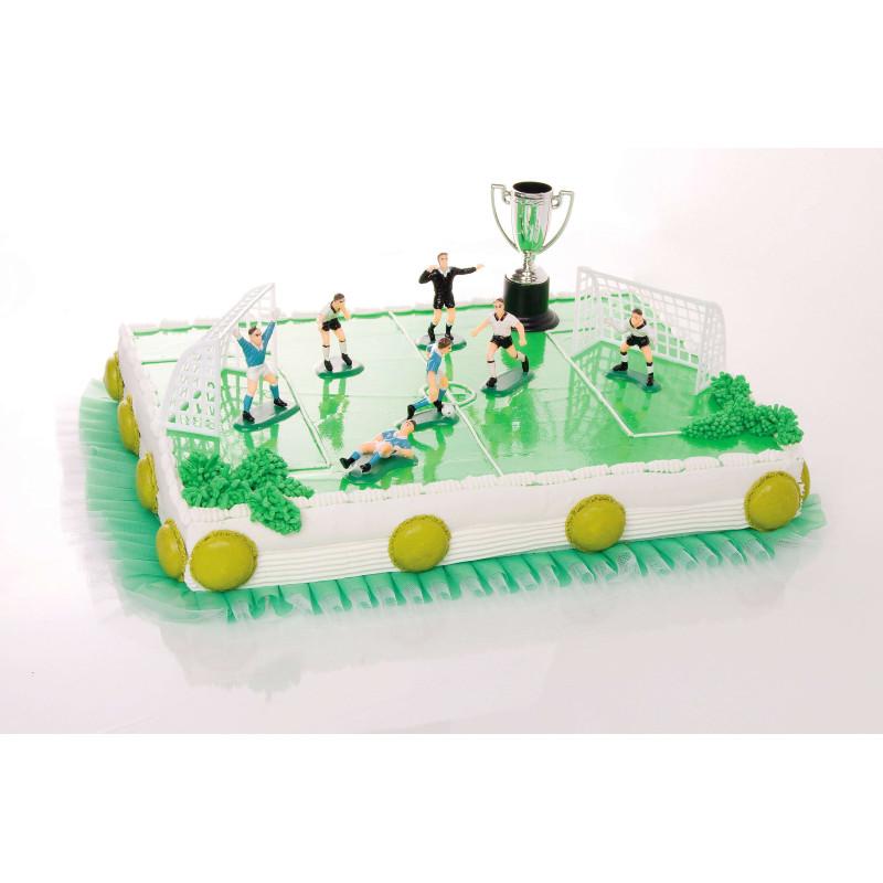 Kit de décoration Football avec joueurs , cages et coupe