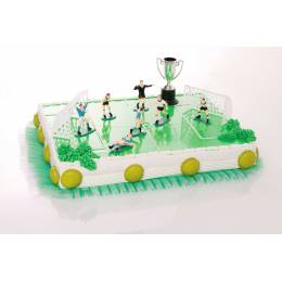 Decoration Football with players, cages and Cup Kit