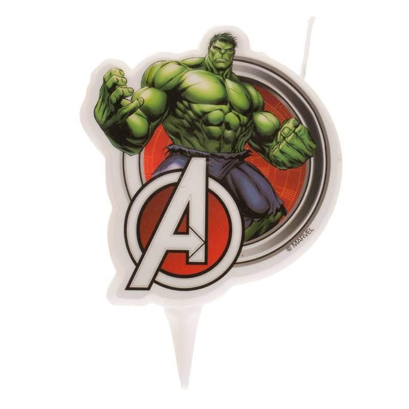 Vela Vengadores Hulk 7,5 cm