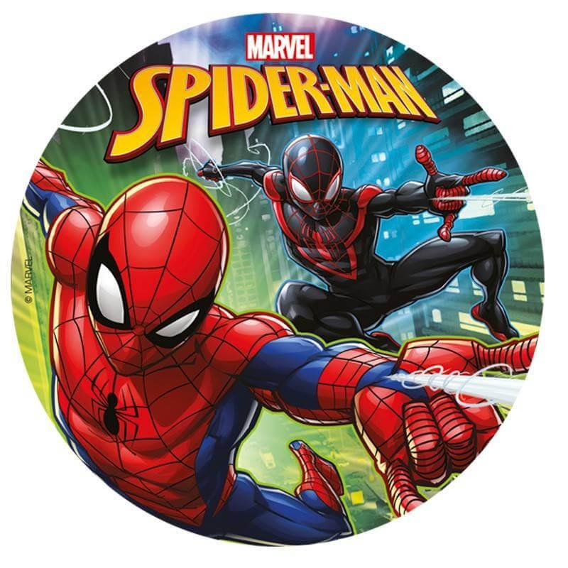 Disco de azúcar Spiderman 20 cm