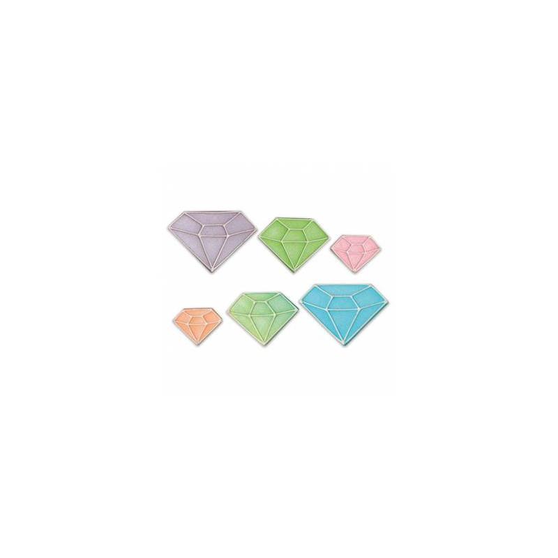 8 Diamants en sucre assortis