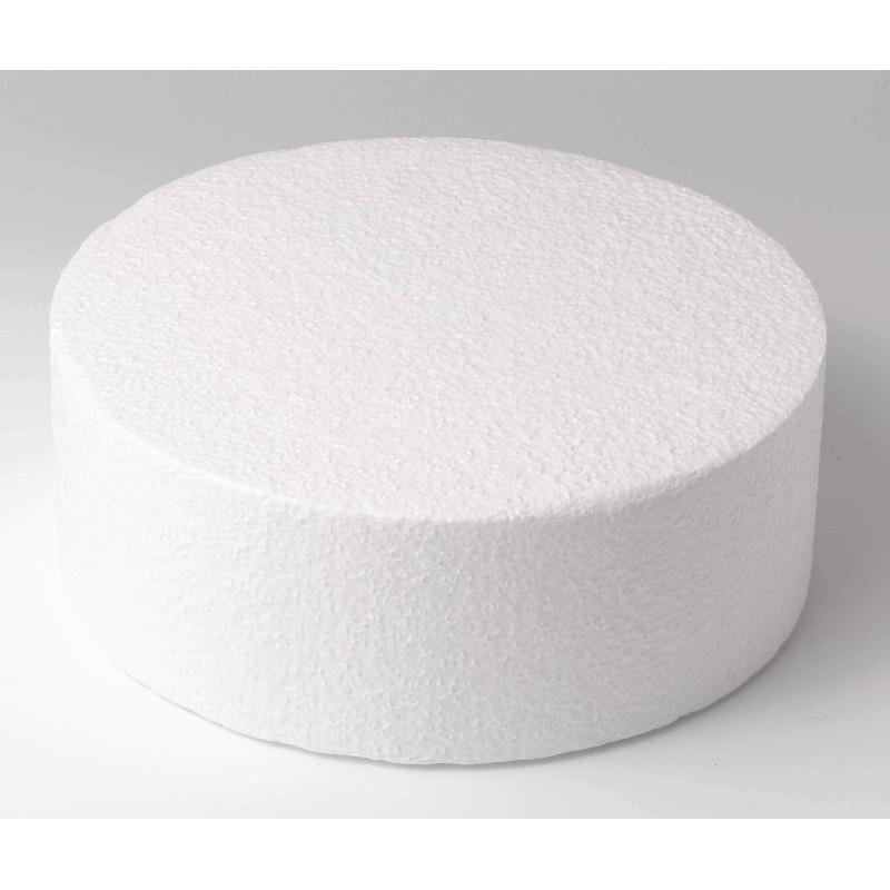 Cake DUMMY ROND polystyrene Diamètre 45 cm hauteur 10 cm