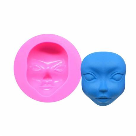 Silicone mould for women's face