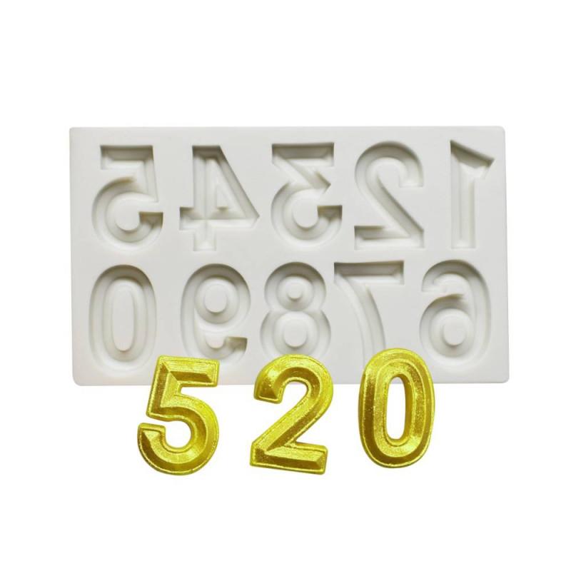 Número de molde de silicona