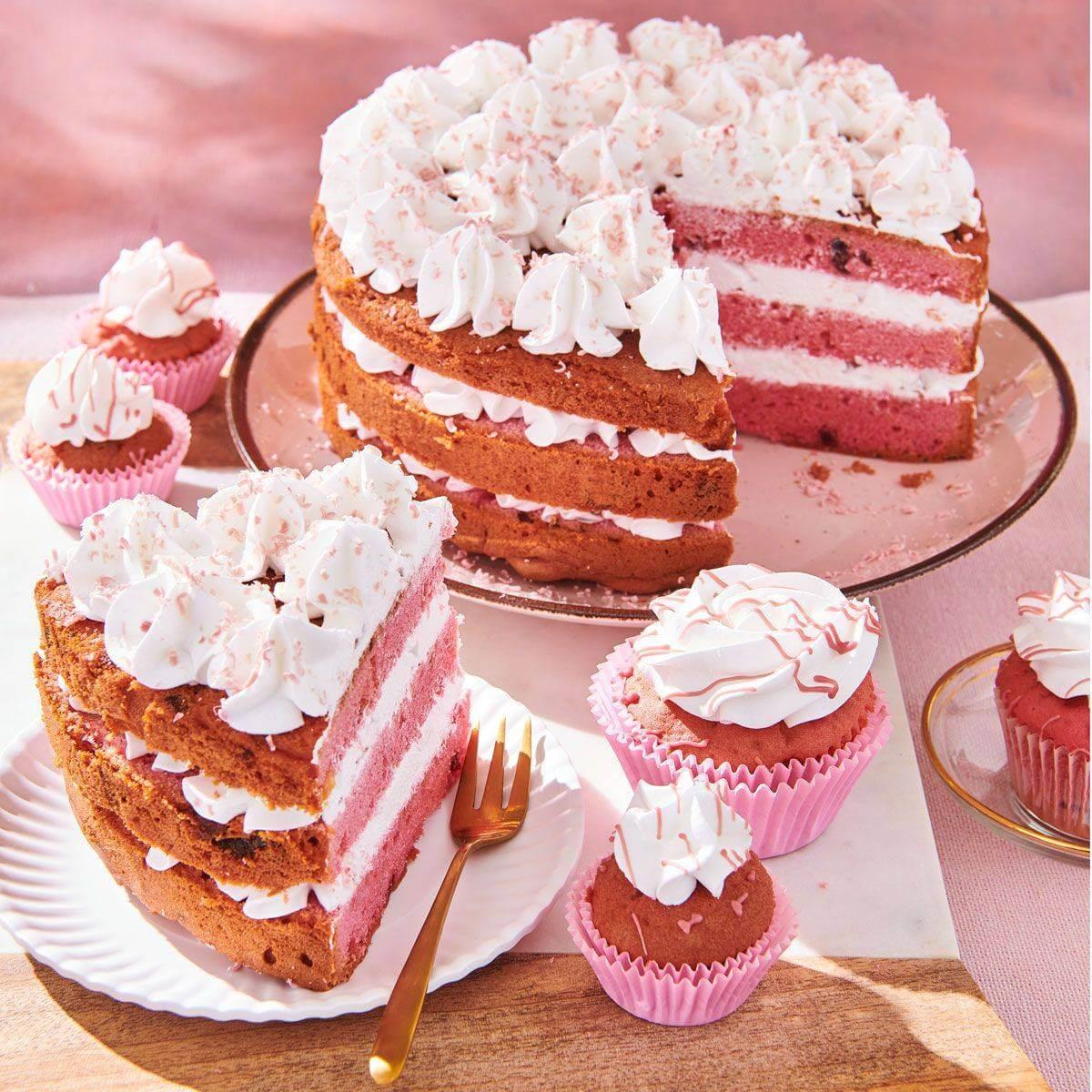 OUVERT ROSE /& cœur blanc mix Comestibles Sprinkles Pour Gâteau Décorations