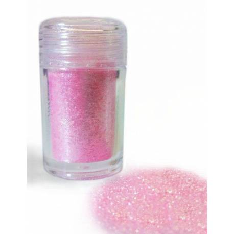 Glossy edible flakes PINK 20ml