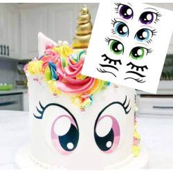 Impresión de alimentos grande Unicorn Eyes