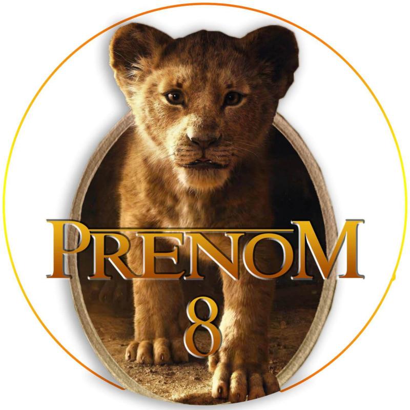 Impresión alimentaria personalizada del LION KING