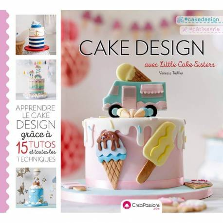 CAKE DESIGN book with Little Cake Sister