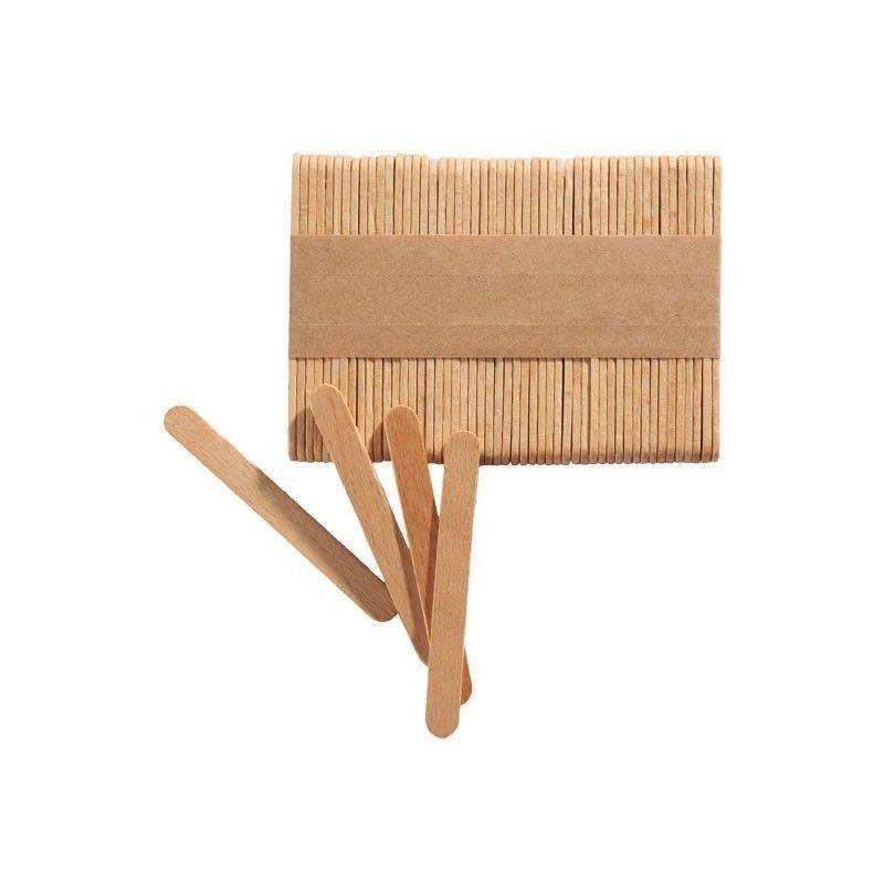 100 Bâtonnets en bois pour sucettes et glace SILIKOMART