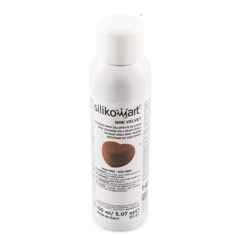 Velvet effect spray BROWN Silikomart 150ml
