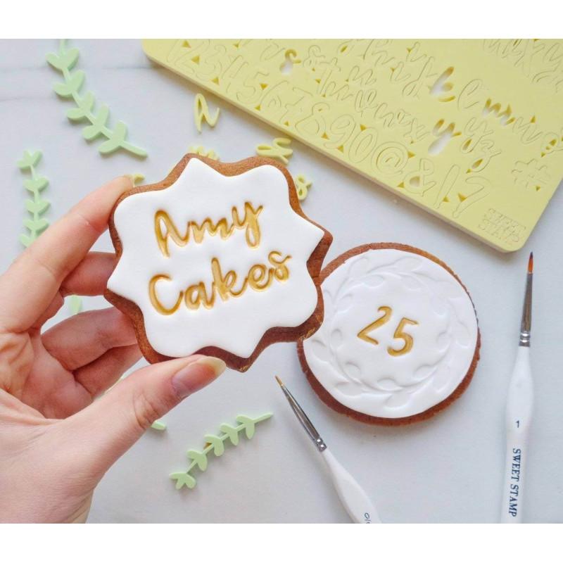 Dulce Letras y Números de Sellos Cookie Embosser