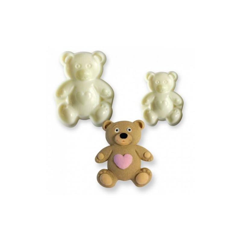 Set of 2 JEM 3D teddy bear cookie cutters