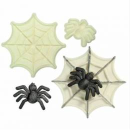 Set of 2 WINS piece spider and its Web