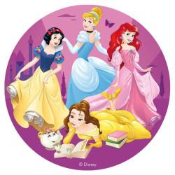 Disco de azúcar Las princesas Disney 16 cm