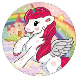 Disco de azúcar Unicorn 16 cm