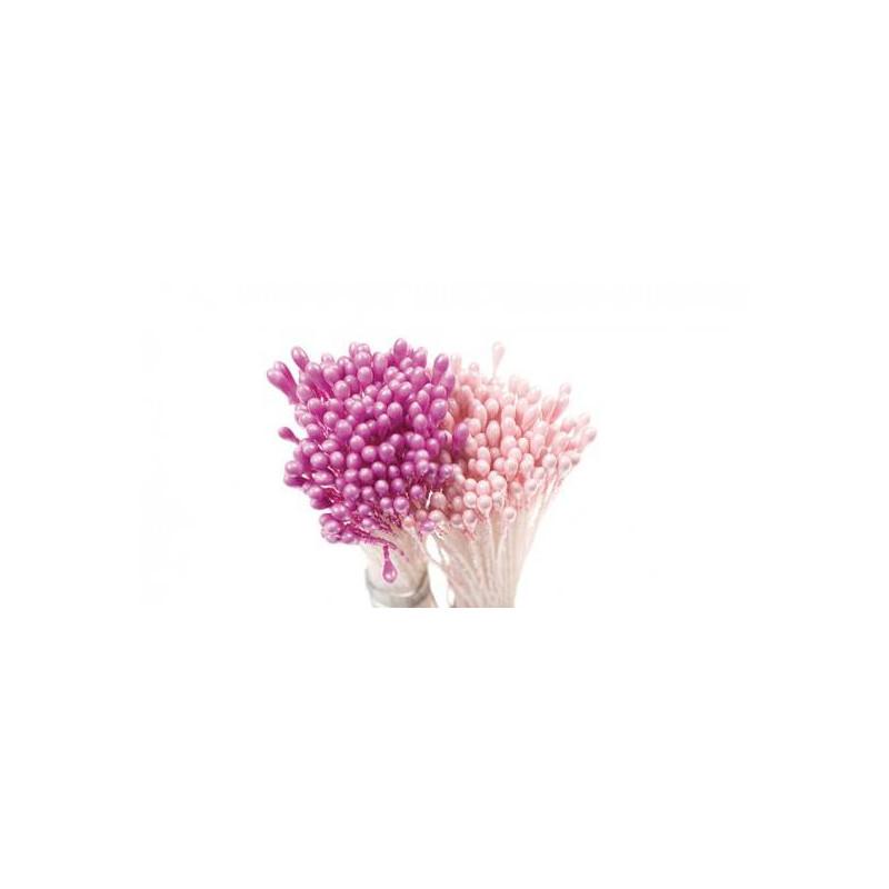 Lote de 288 pistilos florales Rosa y púrpura