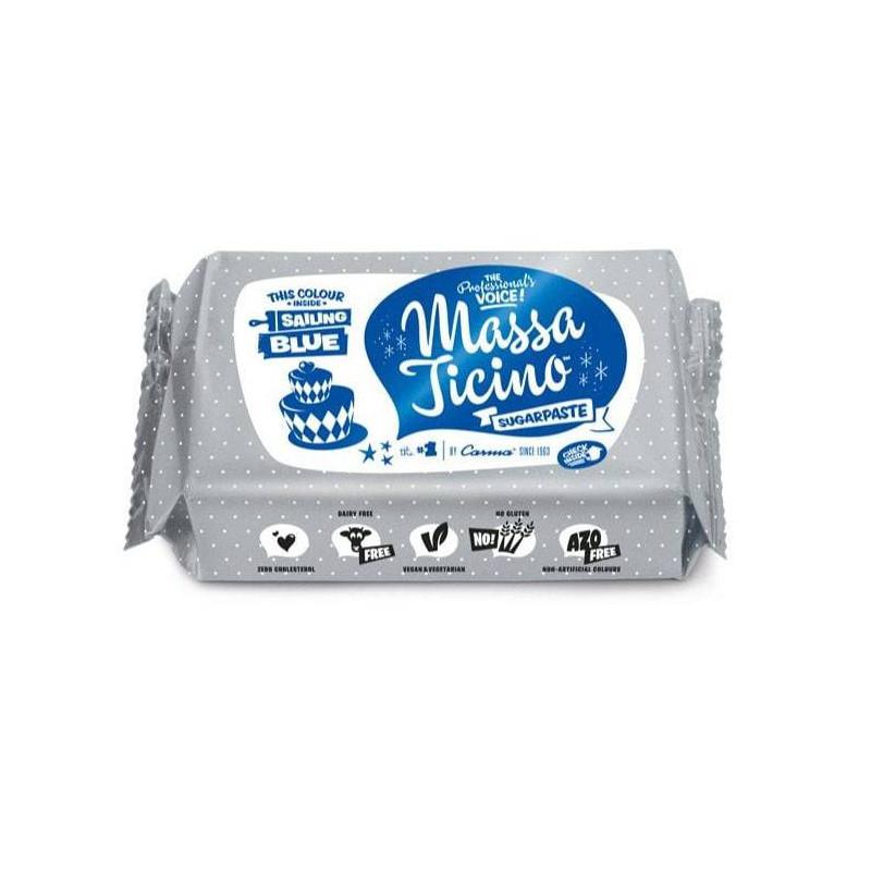 Pâte à sucre Massa Ticino 250g - BLEU