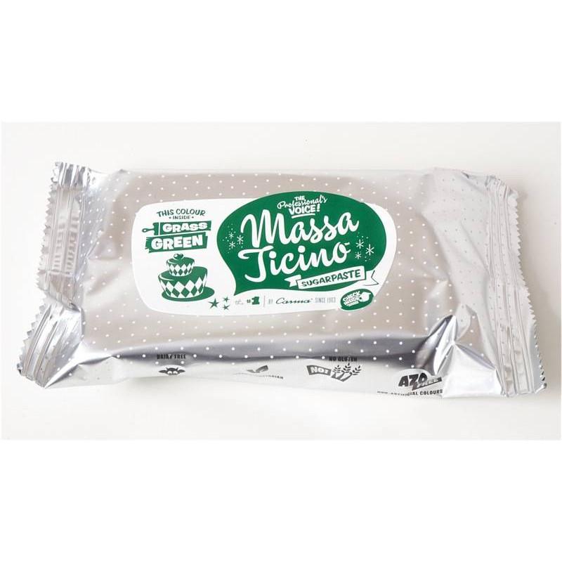 Massa Ticino sugar paste 250g - GREEN