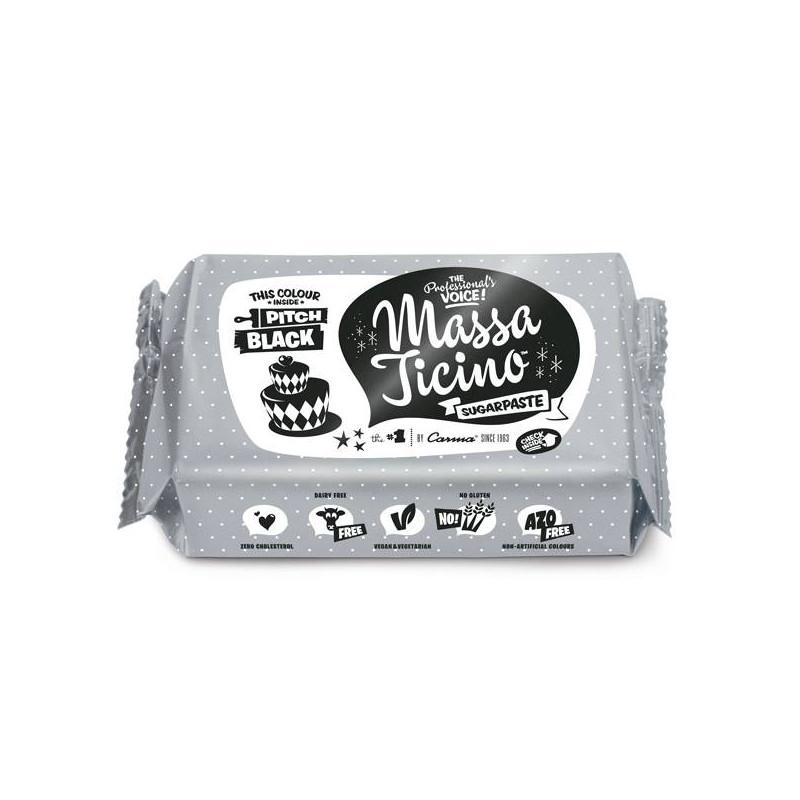 Pâte à sucre Massa Ticino 1 KG - NOIR