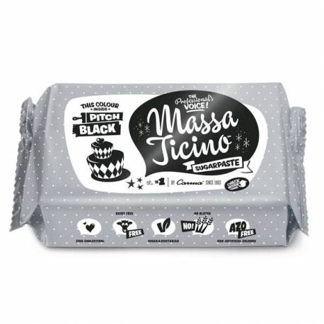 Sugar paste Massa Ticino 1 KG - BLACK