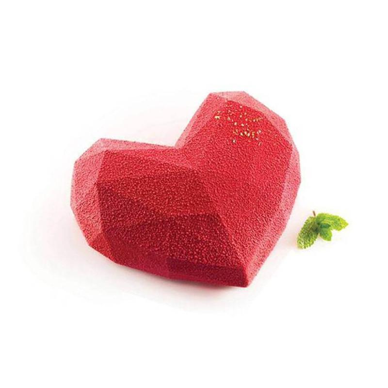 Molde de pastel de corazón de origami Silikomart