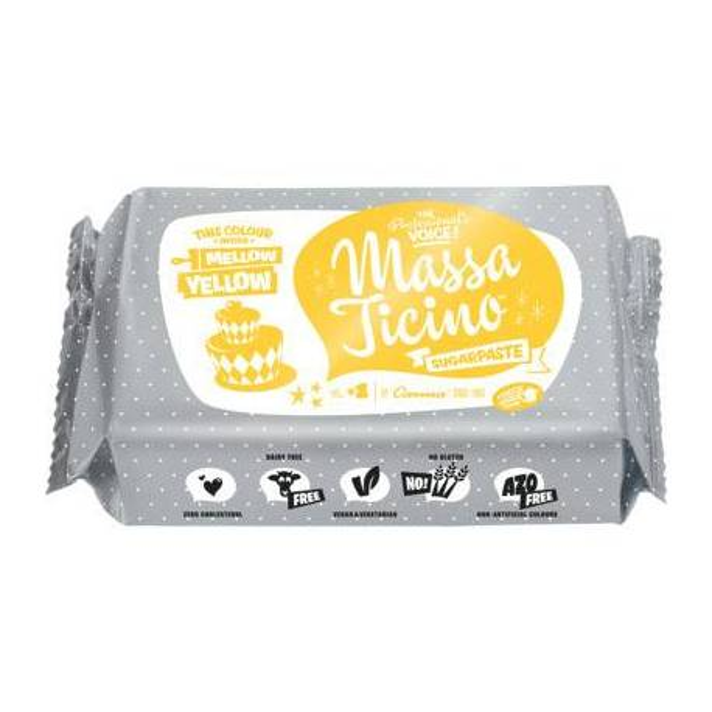 Pâte à sucre Massa Ticino 250g - JAUNE