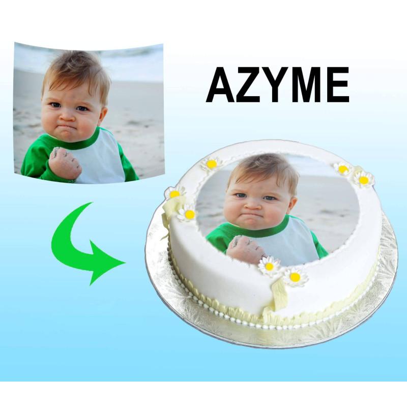 Impression de VOTRE image sur feuille A4 en AZYME