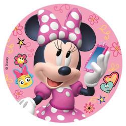 Disque en sucre Minnie 20 cm