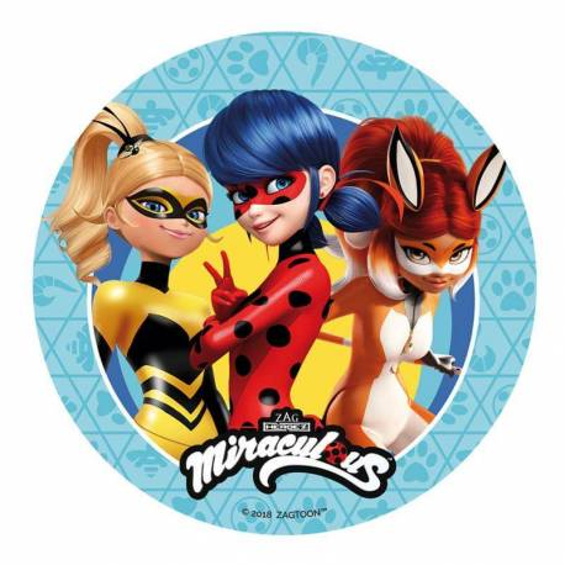 Disco de azúcar Las Aventuras de Ladybug y sus amigos 20 cm