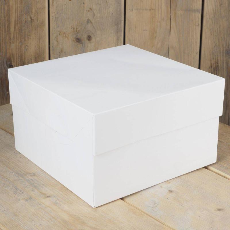 25 Boîtes à Gateaux pâtissières carré 25cm x 15 cm H