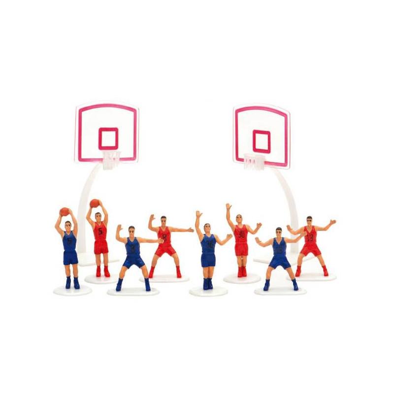 Set of 8 players and 2 BASKET BALL baskets