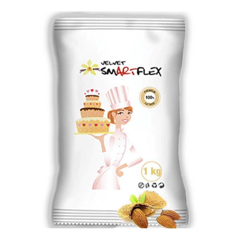 Pâte à Sucre SMARTFLEX BLANC gout Amande 1 KG