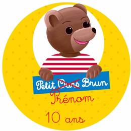 Personalized food printing PETIT OURS BRUN