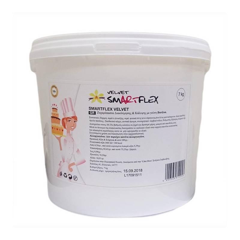 SMARTFLEX Fondant de vainilla blanca 7 kg