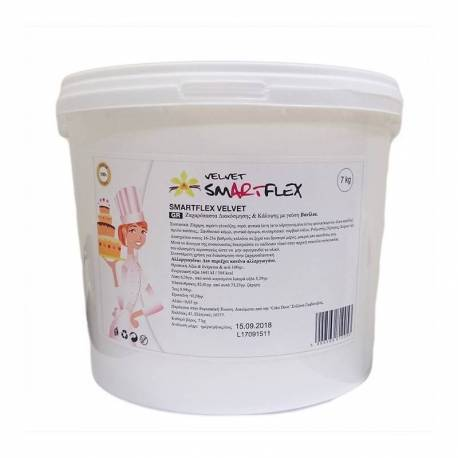 SMARTFLEX White Vanilla Sugar Paste 7 kg