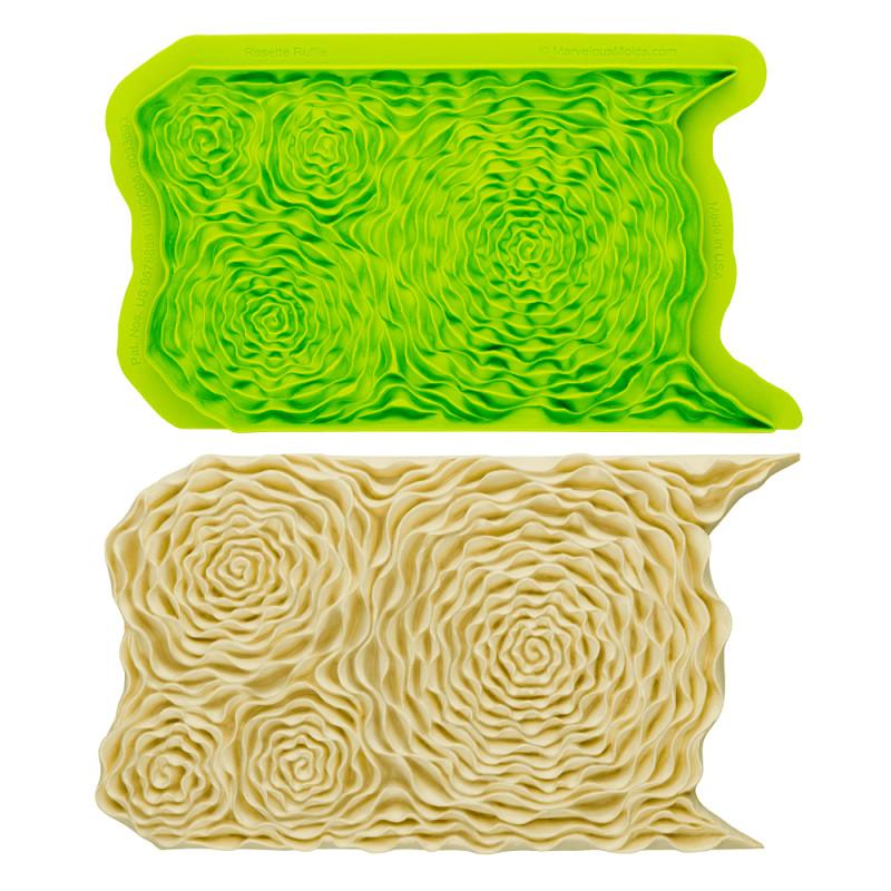 Esterilla de impresión con efecto de volantes florales MARVELOUS MOLD