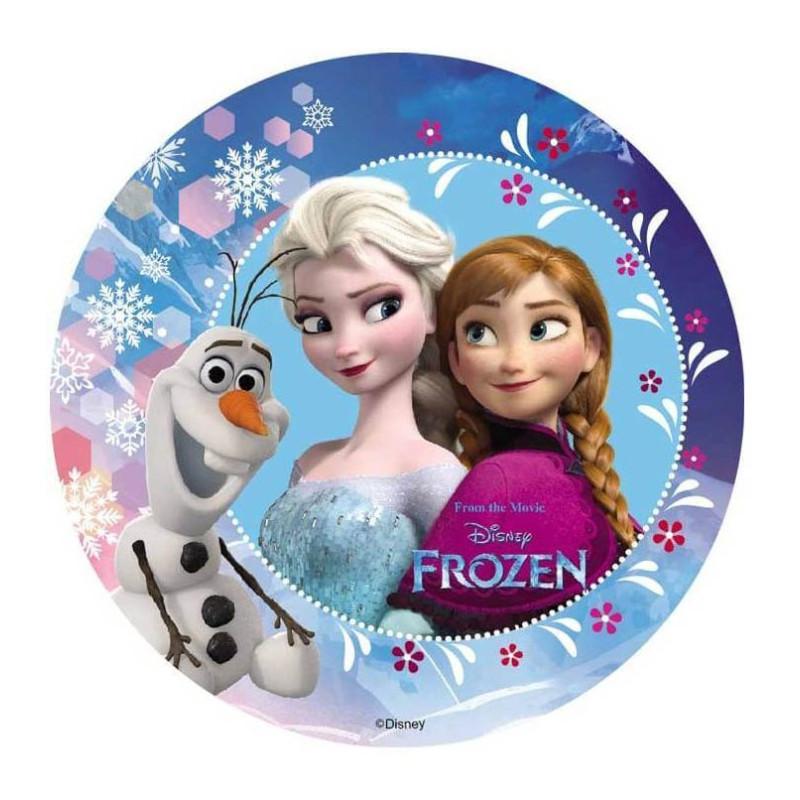 Disque Azyme La reine des neiges 18,5 cm
