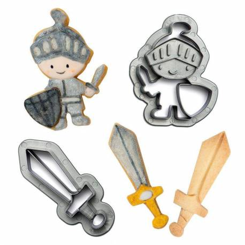 Set de 2 découpoirs Chevalier et son épée