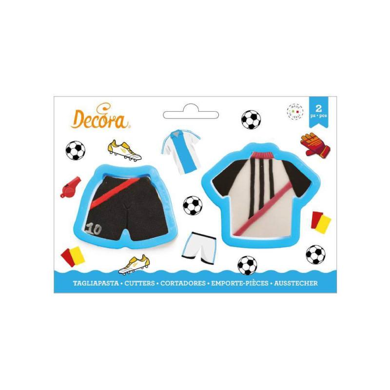 Set de 2 Découpoirs Maillot et Short Football