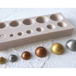 Mould in silicone 11 spheres