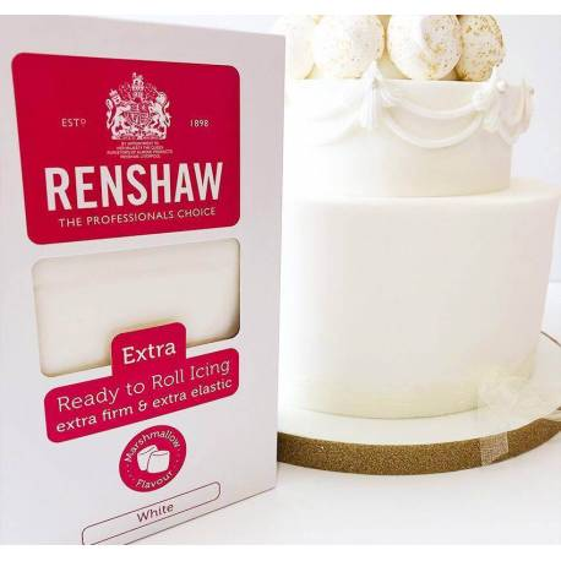 Pâte à sucre Renshaw 1kg EXTRA blanche MARSHMALLOW