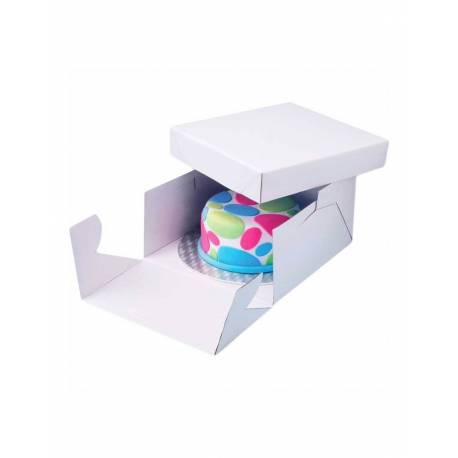 Cake box 15cm high with thick tray