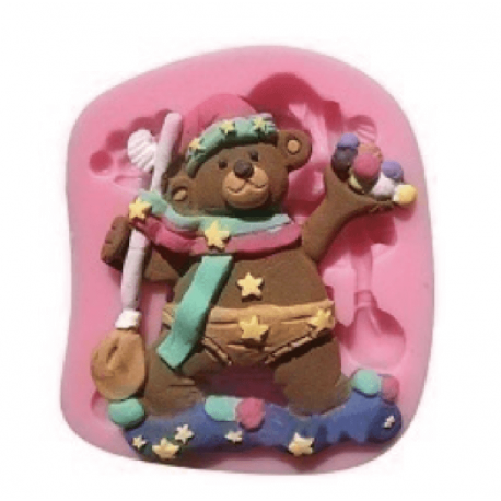 Decorated bear silicone mold